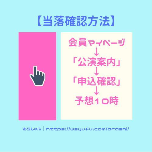 嵐 コンサート 当落確認方法 当選発表日
