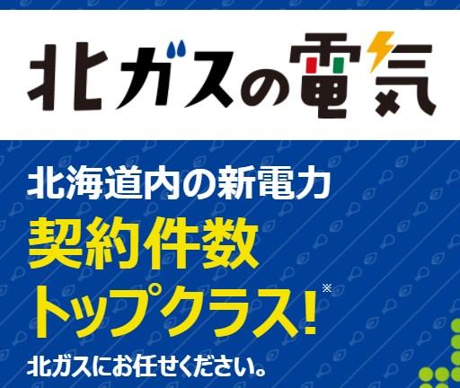 北ガスの電気|北海道供給新電力会社カタログ
