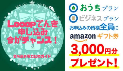 【終了】Looopでんきお正月キャンペーン!申し込み者全員Amazonギフト券もらえます♪