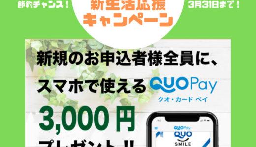 【終了】Looopでんき新生活応援キャンペーン!新規申し込みでQUOカードPay3,000円分もらえます♪