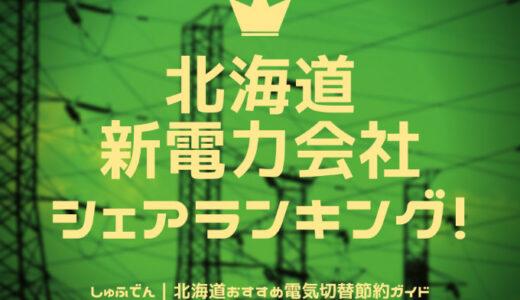 北海道 新電力会社 シェアランキング