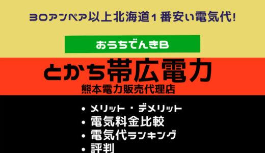 とかち帯広電力(熊本電力) 北海道|メリットデメリット・口コミ評判・電気代電気料金比較