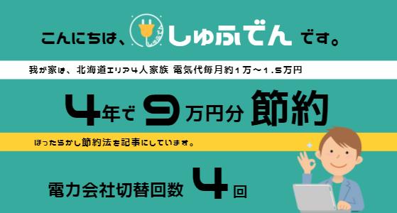 しゅふでん 北海道札幌電気代節約ガイド 電気代1番安い電力会社会社