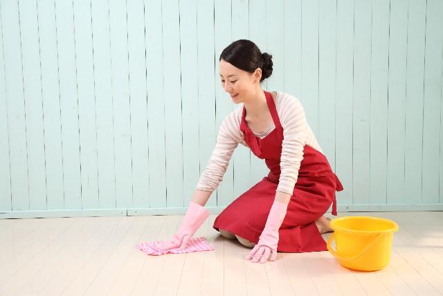 床水拭き掃除