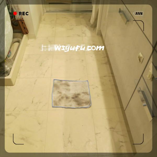 床の拭き掃除汚れ