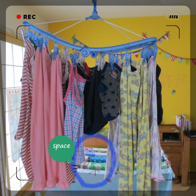 タオル臭くならない 洗濯物予防洗濯方法 洗濯物アーチ干し