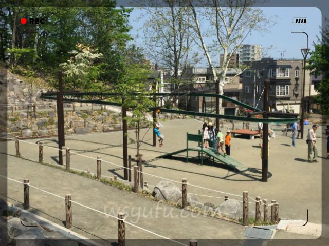 月寒公園「森の遊び場」人気遊具第2位:ターザンロープ!