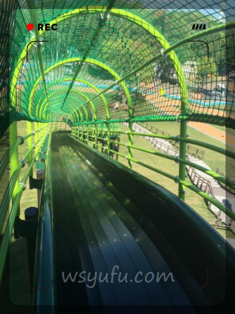 月寒公園「森の遊び場」全長40mロング滑り台