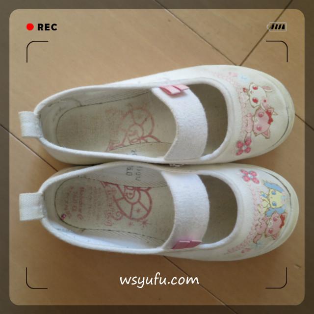 白い 上靴 洗い方 オキシクリーン+魔法水