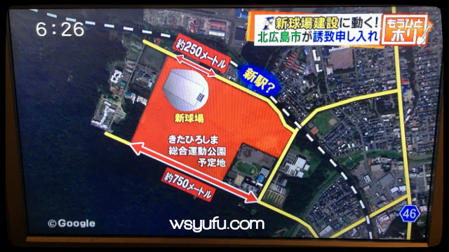 日本ハム新球場 北広島新駅