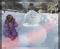 冬の札幌雪遊び雪だるまづくり
