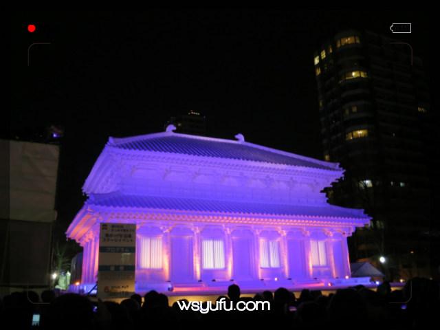 さっぽろ雪まつり プロジェクションマッピング  奈良・興福寺 中金堂