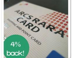 アークスRARAカードで4%還元する方法