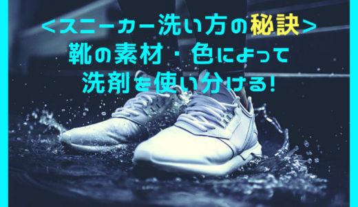 スニーカーの洗い方|つけ置きに洗濯洗剤 擦り洗いに靴専用洗剤がオススメ