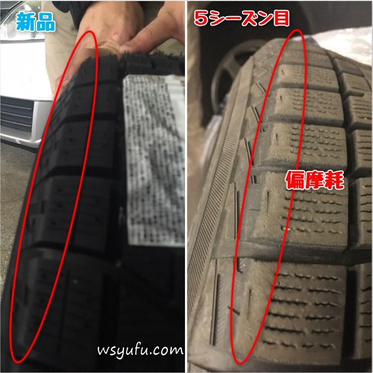 スタッドレスタイヤ寿命の見方は溝・年数・硬度・保管状況・摩耗!1つでもダメなら買い替え必至