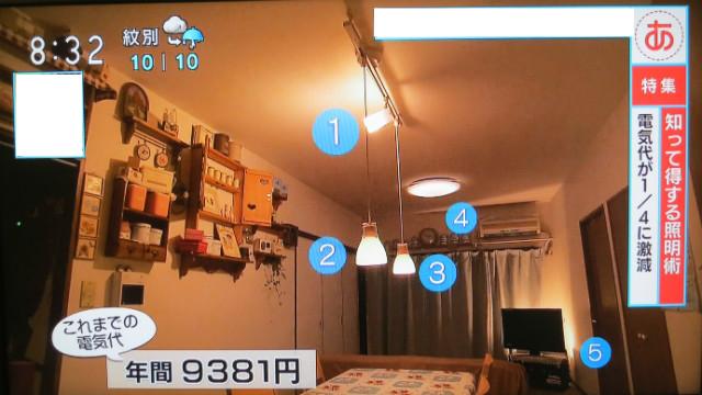 電気代節約LED照明術あさイチ