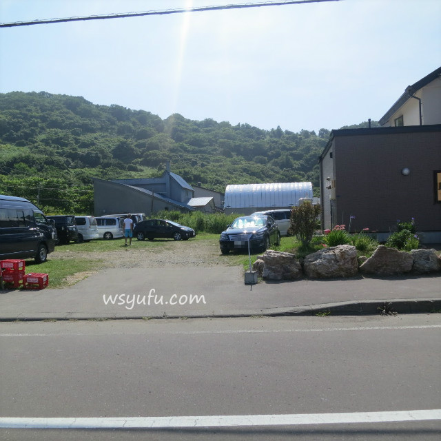 小樽 塩谷海水浴場 駐車場