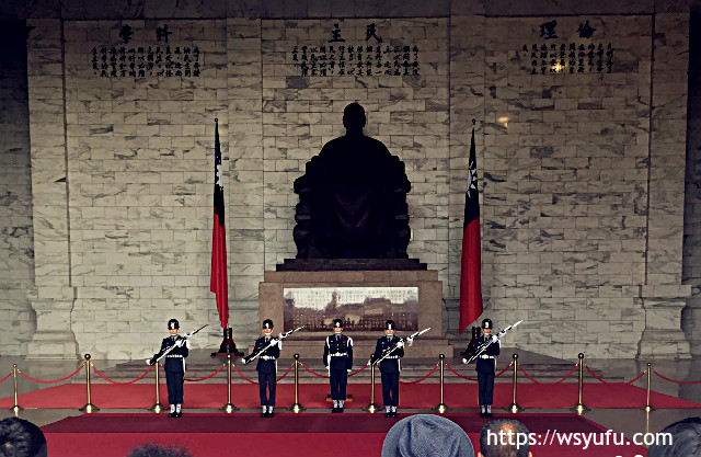 台湾旅行 中正紀念堂 衛兵交替式