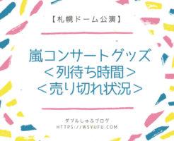嵐コンサート グッズ 行列 待ち時間 売切れ まとめ ブログ