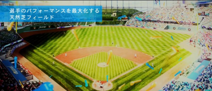 北海道ボールパーク 日本ハム新球場 天然芝 非対称フィールド