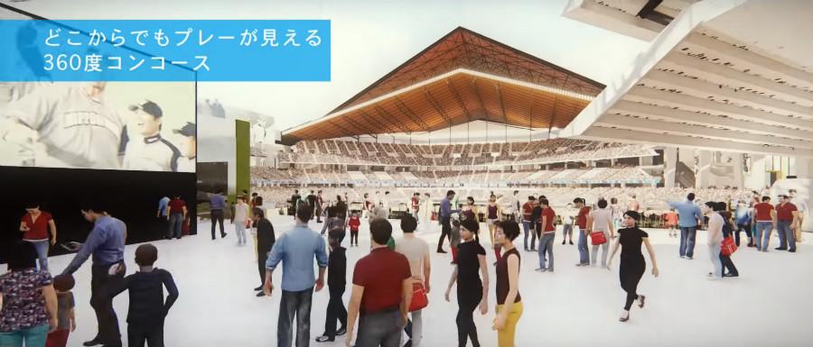 北海道ボールパーク 日本ハム新球場 360度コンコース