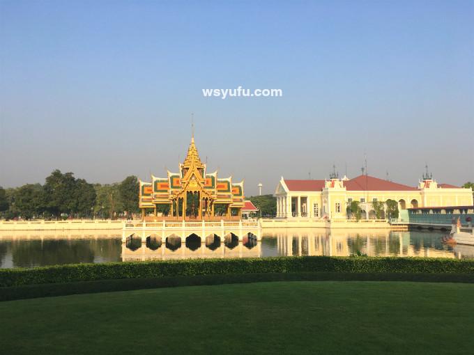 タイバンコク家族旅行 アユタヤ遺跡ツアー バンパイン宮殿