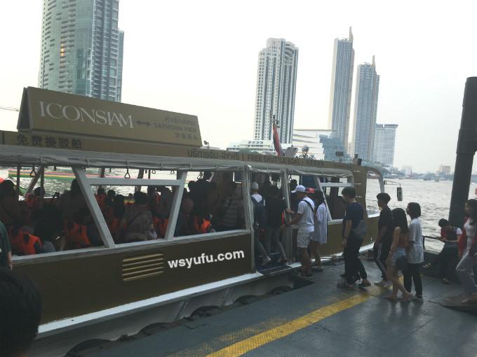 タイバンコク家族旅行 アイコンサイアム 無料シャトルボート