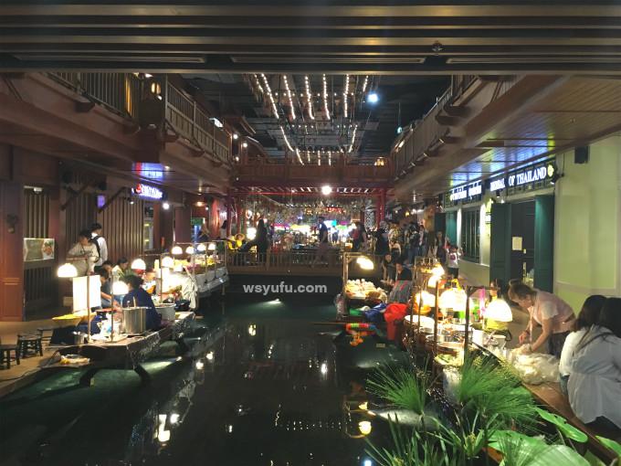 タイバンコク家族旅行 アイコンサイアム 水上マーケット