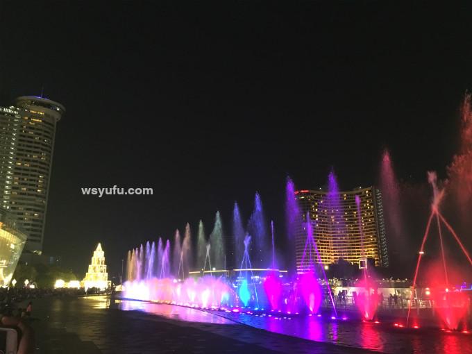 タイバンコク家族旅行 アイコンサイアム 噴水ショー