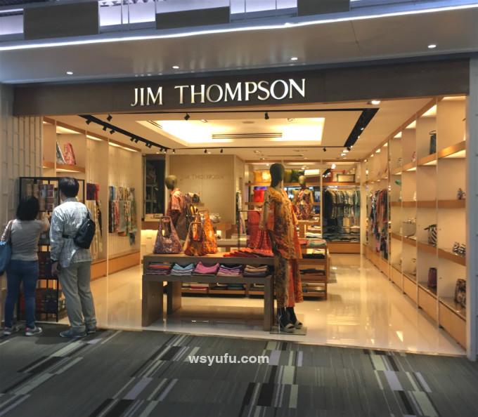 タイバンコク家族旅行 ドンムアン空港 出国審査後 ジムトンプソン