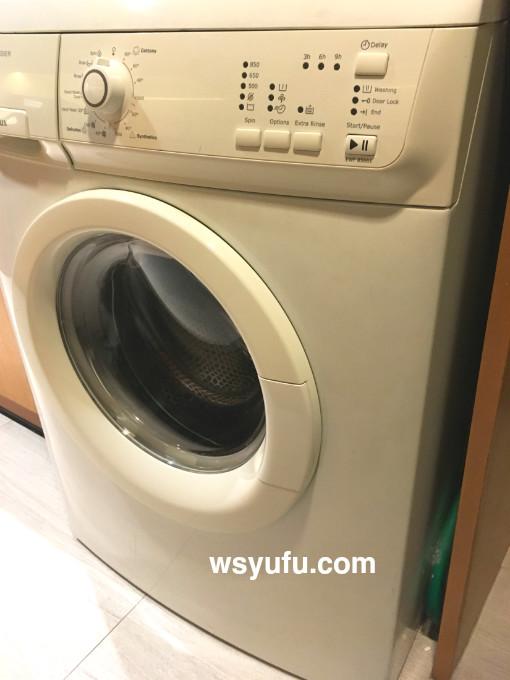 タイ 子連れ ホテル チャトリウムレジデンスサトーンバンコク ドラム式洗濯機