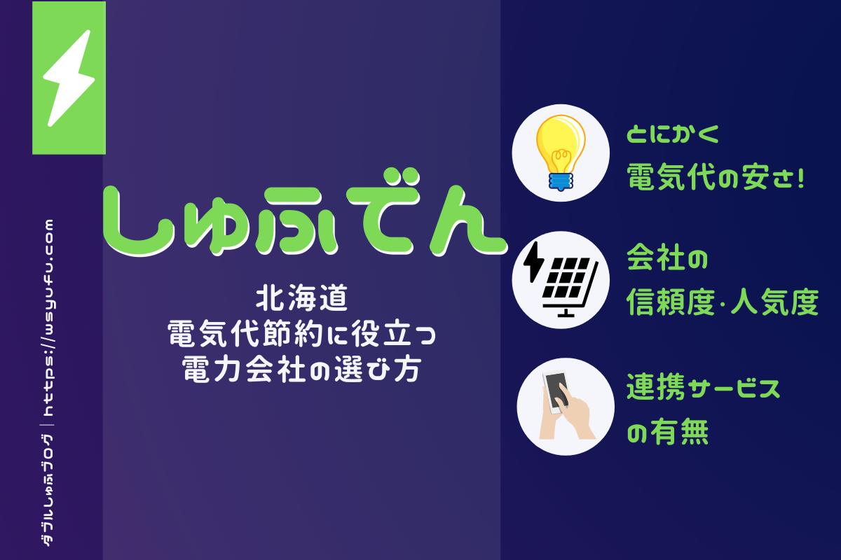 しゅふでん  北海道 電気代節約 電力会社の選び方