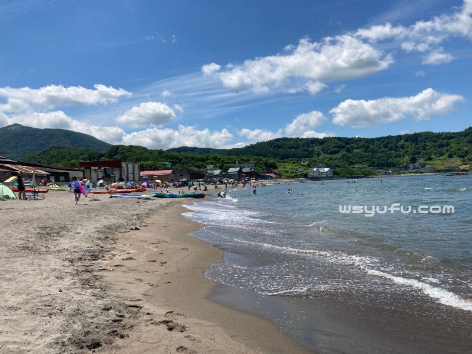 塩谷海水浴場 札幌近郊 子ども連れ ファミリー 遠浅